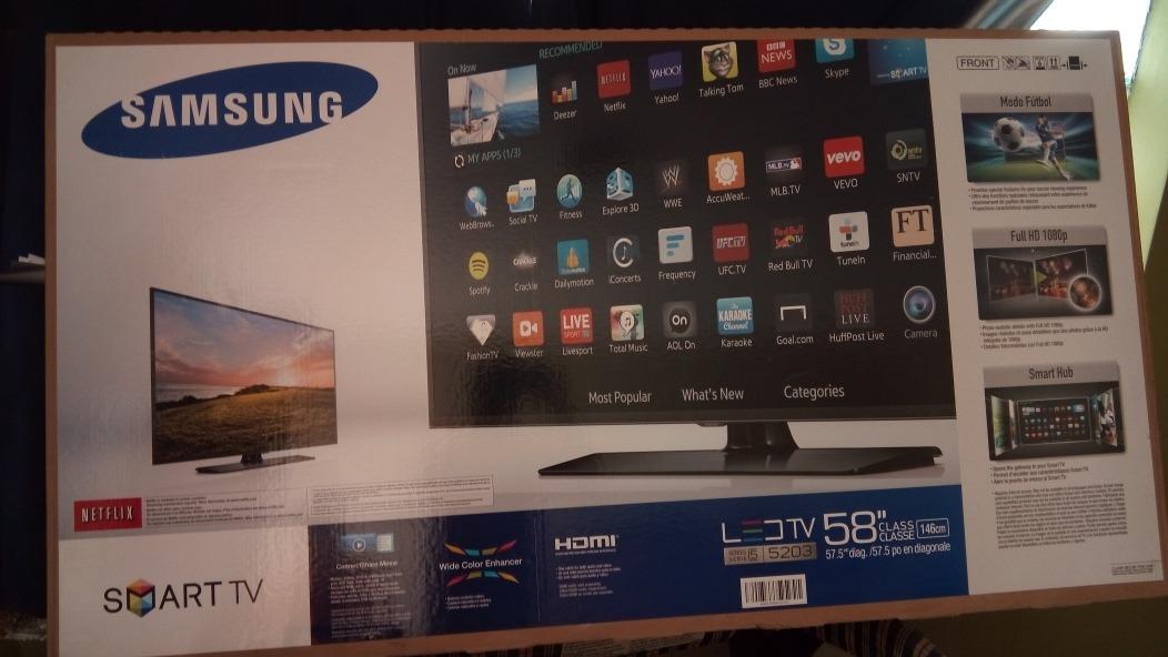 9e36e1394 tv samsung smart tv 58 pulgadas led. Cargando zoom.
