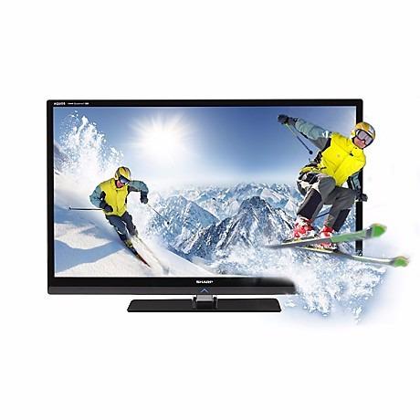 tv sharp 52le835u aquos quattron 3d led con lentes