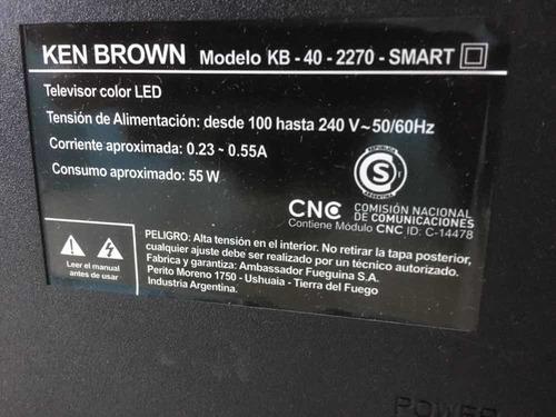 tv smart 40 pantalla rota ken brown kb-40-2270 smart