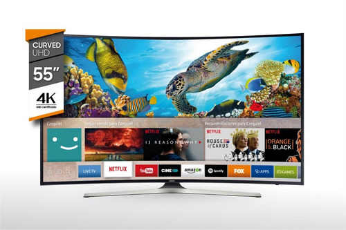 tv smart 55'' uhd 4k curved samsung un55mu6300