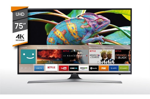 tv smart 75'' uhd 4k samsung un75mu6100