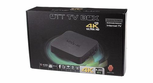 tv smart box convertidor android 6 mxq 4k hdmi + teclado