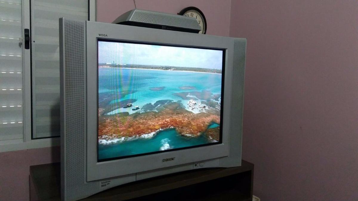 tv sony wega 29 top de linha subwoofer r 450 00 em mercado livre