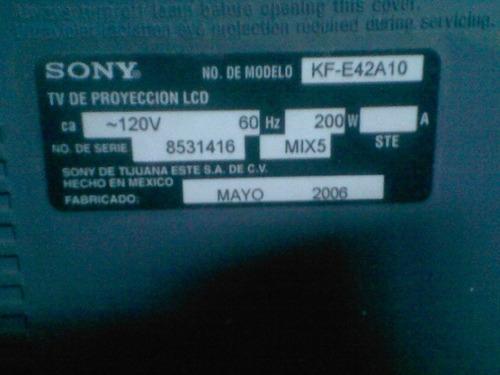 tv sony wega 42 pulgadas proyeccion led reparar o repuesto