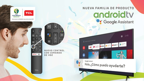 tv tcl 32 pulg smart android control por voz serie s6500