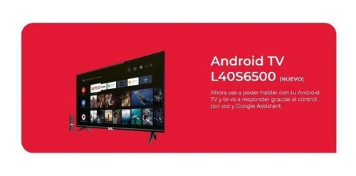 tv tcl 32 pulg smart android control voz s6500