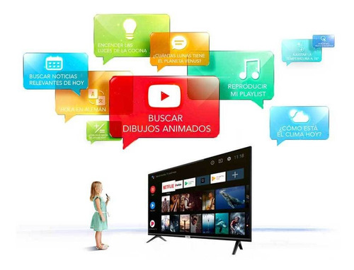 tv tcl 32 smart s6 bluetoot android cont voz+soporte+hdmi