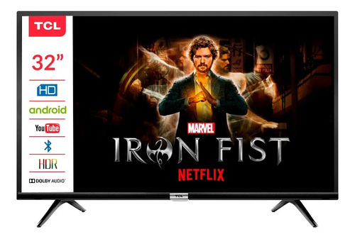 tv tcl 32 smart s6 bluetoot +soporte  android tv 8.1