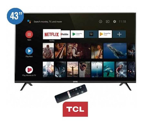 tv tcl 43p8m 4k smart android 9.0 control de voz bluethoot