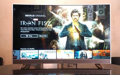 tv tcl 49 curvo smart netflix led 2años +teclado +soporte