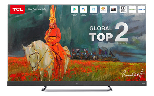 tv tcl 55 c8 smartv android 4k hdr pro+ bluetooth