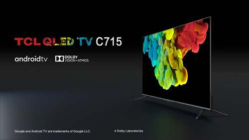 tv tcl 65c715 qled 2021 android p control voz manos libres