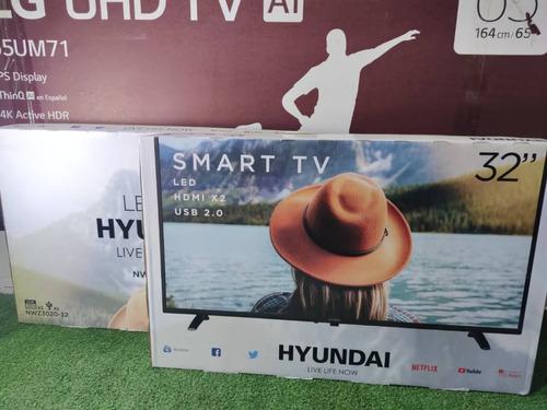 tv televisor smartv hyundai led wifi 32 pulgadas netflix