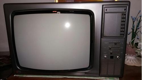 tv televisor talent 82 color, con control remoto. en caseros