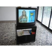 Tv Toshiba De 27 Pulgadas Con Su Mesita Y Telecomando