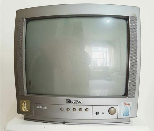 tv tubo 14 polegadas philco com defeito