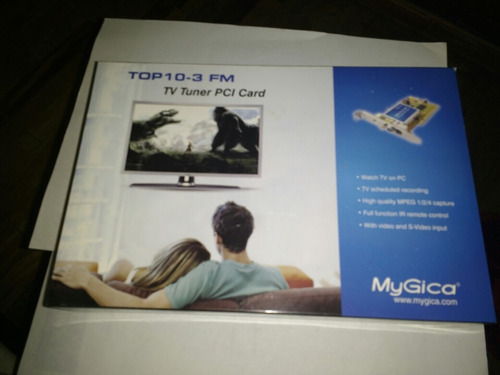 tv tuner card with fm  marca my gica  modelo top 10-3 fm