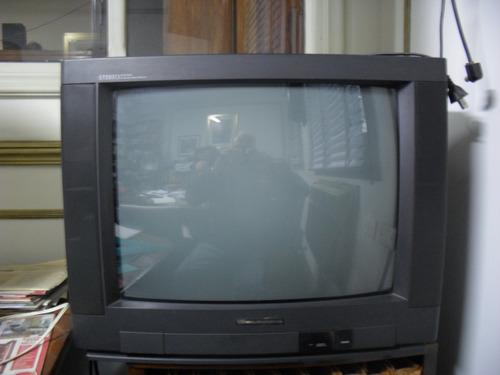 tv white - westinghouse color de 21   funcionando