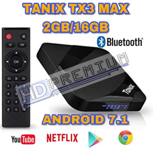 tvbox tanix tx3 max android 7.1 wifi + bluetooth! 2gb/16gb