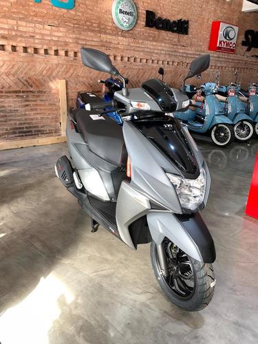 tvs ntorq 125 edición racing gris mate  sauma motos