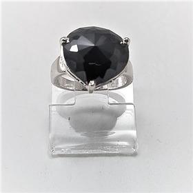 Tw Anel  Diamante Negro Moissanite 29ct Prata 925