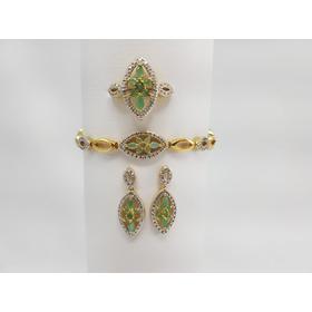 Tw Conjunto C/ Diamantes E Esmeralda - Total 97.5ct