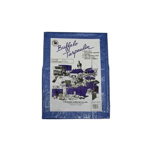 t.w. evans cordage 01525 buffalo blue poly tarpaulin, 15 pie