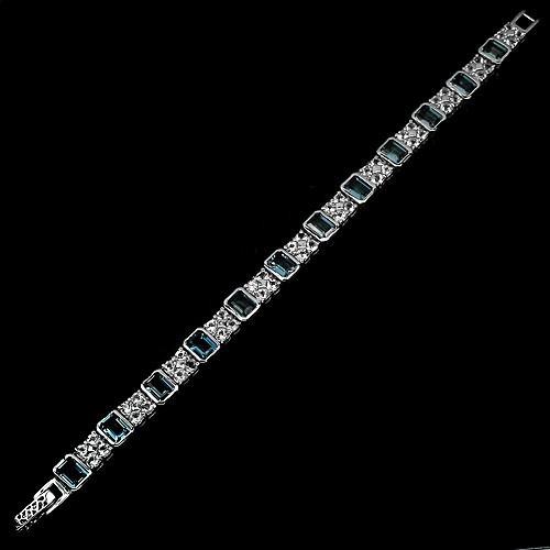 tw pulseira topázio london blue prata ouro branco