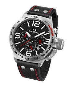 Tw Steel Black Men s Leather Watch Stainless Cs10 With xEQreodCBW