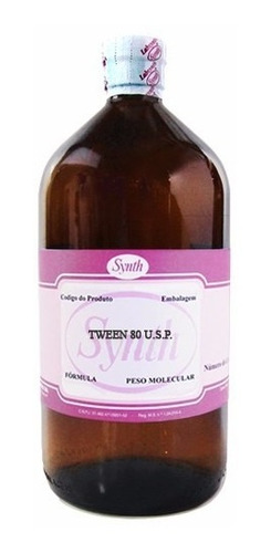 tween 80 polisorbato para sintese frasco 1 litro