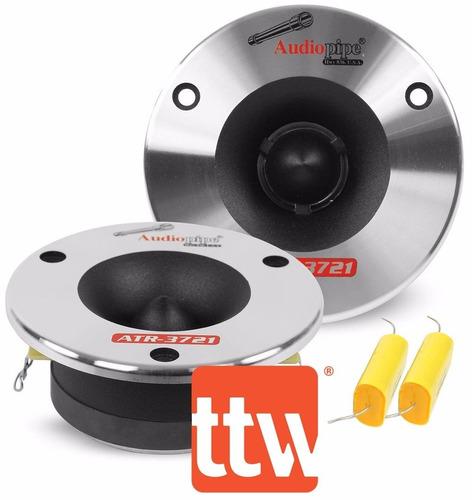 tweeter audio pipe 350watt(el par)  incluye filtros