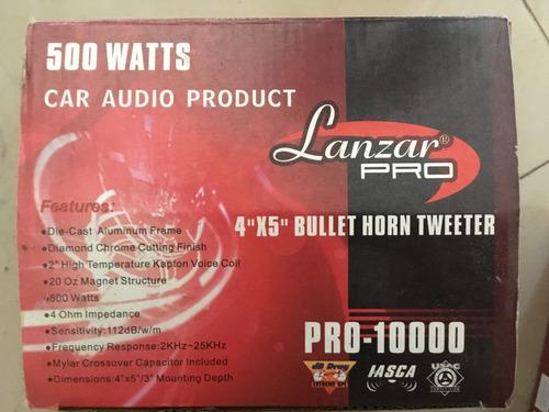 tweeter lanzar pro-10000 nuevo 500 watts 4 ohm.(par)