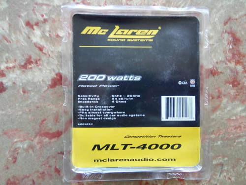 tweeter  mc laren mlt-4000