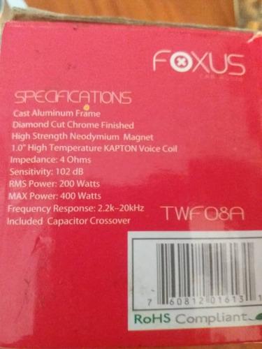 tweeter tipo bala titanium super 1.75 foxus twf08a