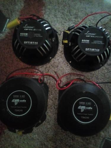tweeters o balas lanzar optipro 600watts y sm audio 500watts