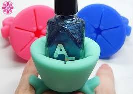 tweexy, anillo de silicon para esmaltes de uñas.