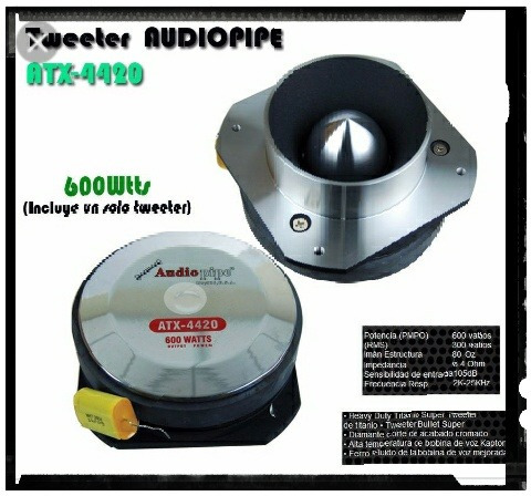 tweteer tipo bala audio pipe 600w original