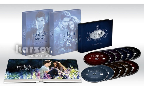 twilight forever the complete saga crepusculo dvd + uv