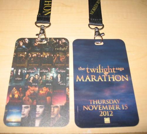 twilight saga / gafete de colección premiere amanecer 2