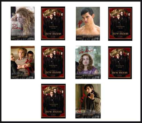 twilight saga-luna nueva-tarjetas-platinum signature set