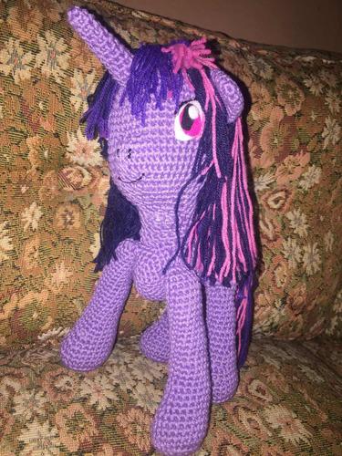 twilight sparkle pequeño pony amigurumi crochet peluche