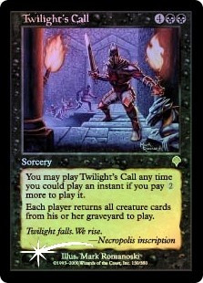 twilight's call x 1 foil mtg