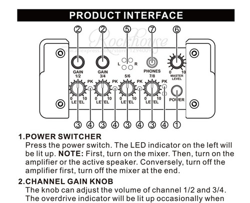 twinbuys nux pmx-2 mezclador línea portátil (infusiontienda)