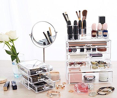 twing organizador de joyería de maquillaje acrílico premi