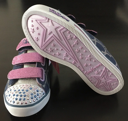 twinkle toes zapatillas skechers luces glitter lv importados