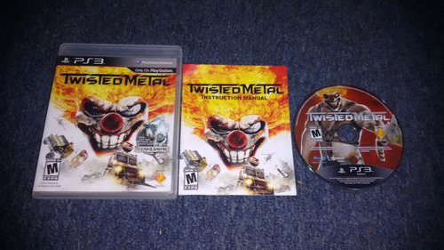 twisted metal completo para play station 3,excelente titulo