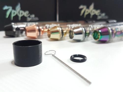 twisty glass blunt 7 pipe pipa de vidrio adaptable bong 18mm