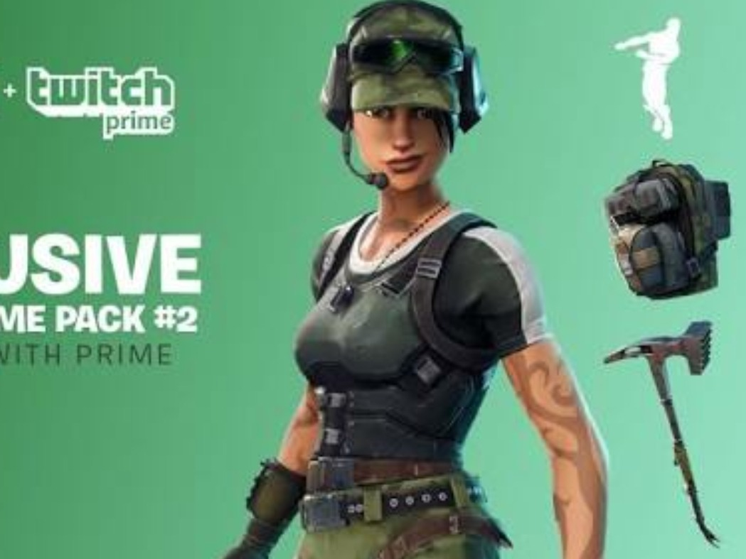Twitch Prime Pack 2 (fortnite) Skin + Gesto + Picareta
