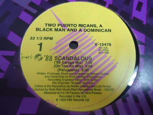two puerto ricans a blck man and a dominican lp. de 12 de 33
