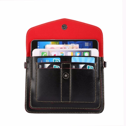 two separated mobile phone bag & pouch & purse / pu leather